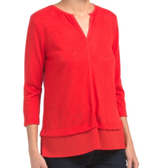 bobeau Tops - NWOT Bobeau Red Blouse